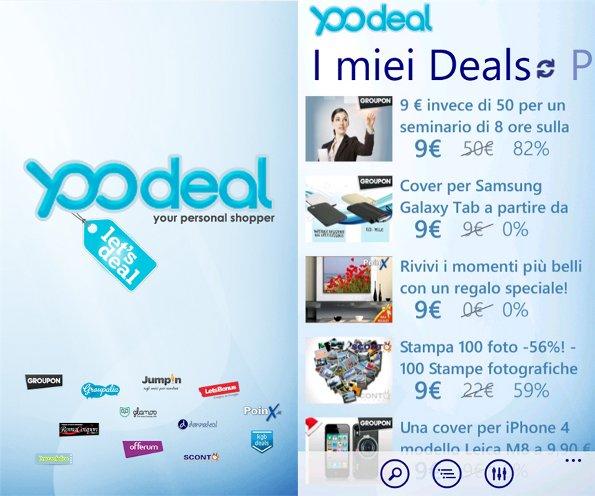 Yoodeal: disponibile su Windows Phone il motore di ricerca dei deals tutto italiano